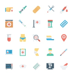Medical and Health Colored Icons 3 vector image