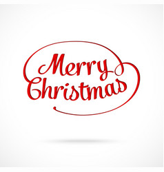 Merry Christmas typographic greeting card vector image