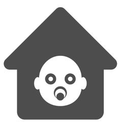 Nursery house flat icon vector