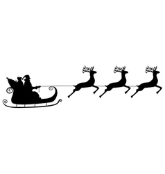 Santa Claus rides in a sleigh in harness vector image vector image