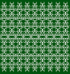 Seamless - green oriental grille vector
