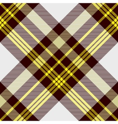 Seamless tartan plaid pattern in yellow white and vector image