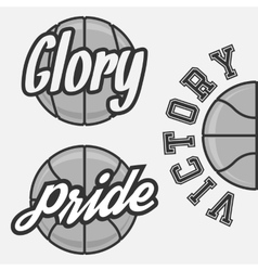 Set of Basketball Team Logos vector image vector image