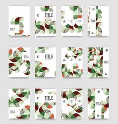 Set of brochure cover templates vector