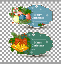 set of tags for gifts for christmas in a tag vector image vector image