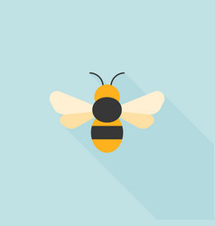 Simple bee icon flat design vector