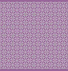 tile pattern with violet print on white background vector image