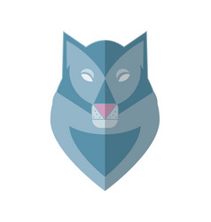 wolf head flat vector image vector image