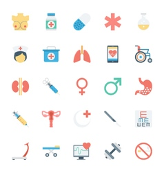 Medical and health colored icons 2 vector