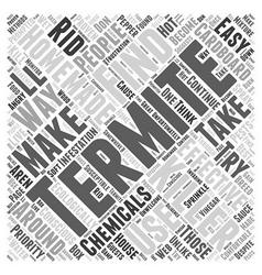 Homemade termite killer word cloud concept vector