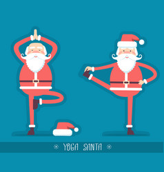 Santa claus doing yoga isoiated for design vector