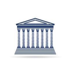 Justice court building image icon vector image