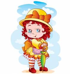 the lovely girl vector image