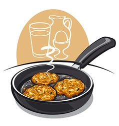 potato pancakes vector image