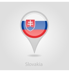 Slovakia flag pin map icon vector