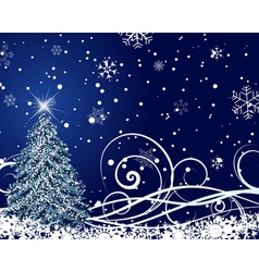 Beautiful christmas new year card vector