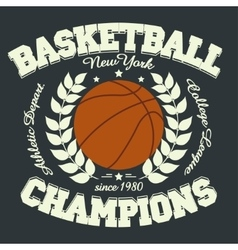 Basketball t-shirt vector