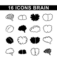 Outlines of the brain vector
