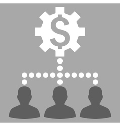 Industrial Bank Clients Flat Icon vector image
