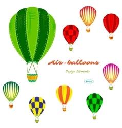Air balloons set retro vector