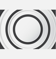 Abstract white circle on black background vector