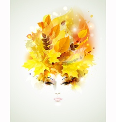 autumn women vector image vector image