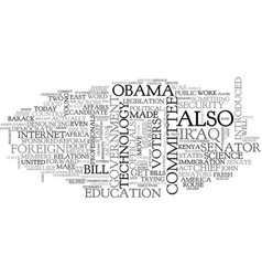 Barack obama a political profile text word cloud vector