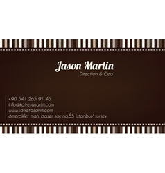 Brown decorative business card vector image vector image