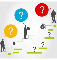 Business ladder3 vector