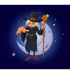 Cartoon Evil Witch vector image vector image