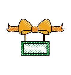 christmas board ribbon decoration celebration vector image