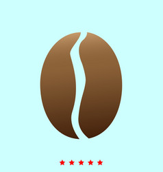 coffee bean it is icon vector image vector image