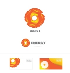 Energy company logo icon vector