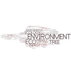 Environment word cloud concept vector