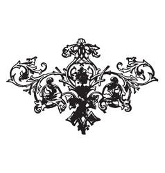 Floral motif has a leaves arrangement on it vector
