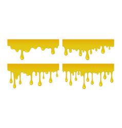 Flow and drop of honey vector