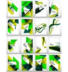 Flyers brochure design template set vector