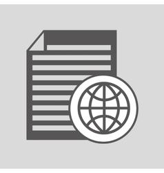 global digital paper network design vector image