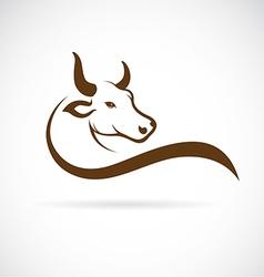 Image of an bull head vector