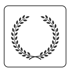 Laurel wreath victory achievement icon vector