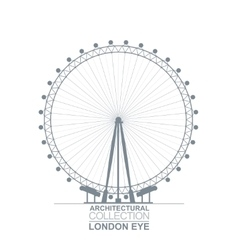 London eye view vector