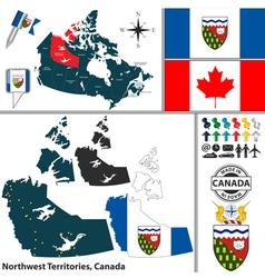 Map of northwest territories vector