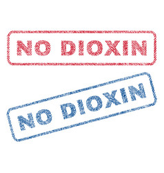 No dioxin textile stamps vector