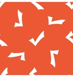 Orange tick mark pattern vector image