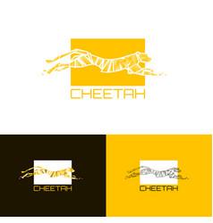 printstylized cheetah logo cheetah vector image