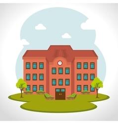 School traditional education vector