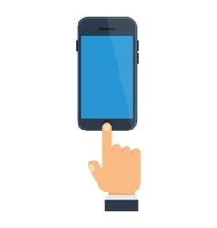 smartphone send messages vector image vector image