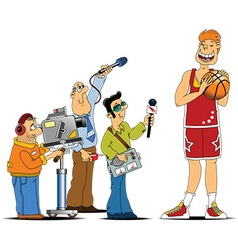 Sports cast cartoon vector image vector image