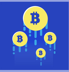 The rise of the cryptocurrency bright vector