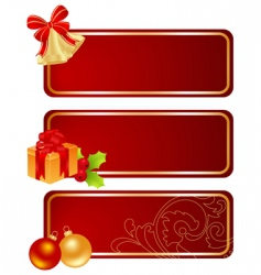 three Christmas tablets vector image